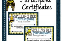 Spelling Bee Participant Certificates  A Teacher In Paradise for Spelling Bee Award Certificate Template