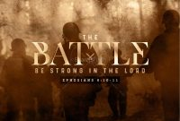Spiritual Battle Sermon Powerpoint Template  Powerpoint Sermons throughout World War 2 Powerpoint Template