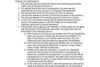 Sponsorship Agreement Templates For Restaurant Cafe And Bakery inside Club Sponsorship Agreement Template