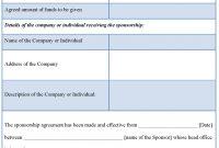 Sponsorship Contract Template regarding Club Sponsorship Agreement Template