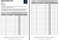 Sponsorship Template Form  Icardcmic inside Blank Sponsor Form Template Free