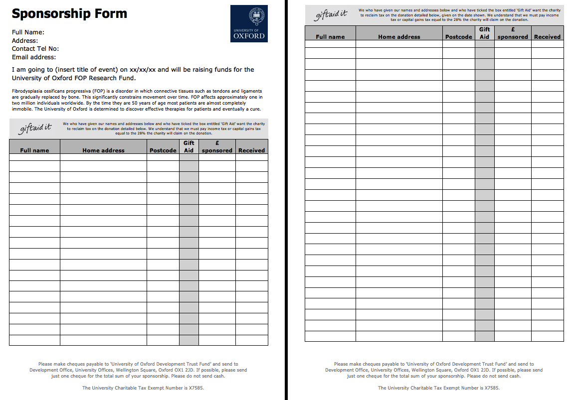Sponsorship Template Form  Icardcmic With Blank Sponsorship Form Template