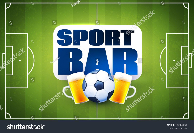 Sport Football Bar Menu Design Template Stock Vector Royalty Free In Football Menu Templates