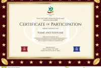 Sport Theme Certification Of Participation Template Stock Vector with Rugby League Certificate Templates