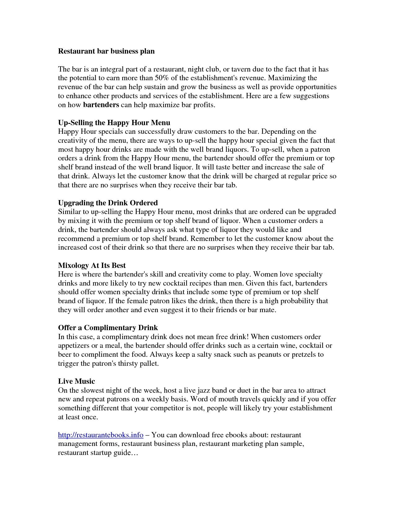 Sports Bar And Grill Business Plan  Best Opinion  Baseball Inside Music Business Plan Template Free Download