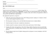 Sports Coach Contract Example Templates  Docs Word  Examples intended for Business Coaching Contract Template