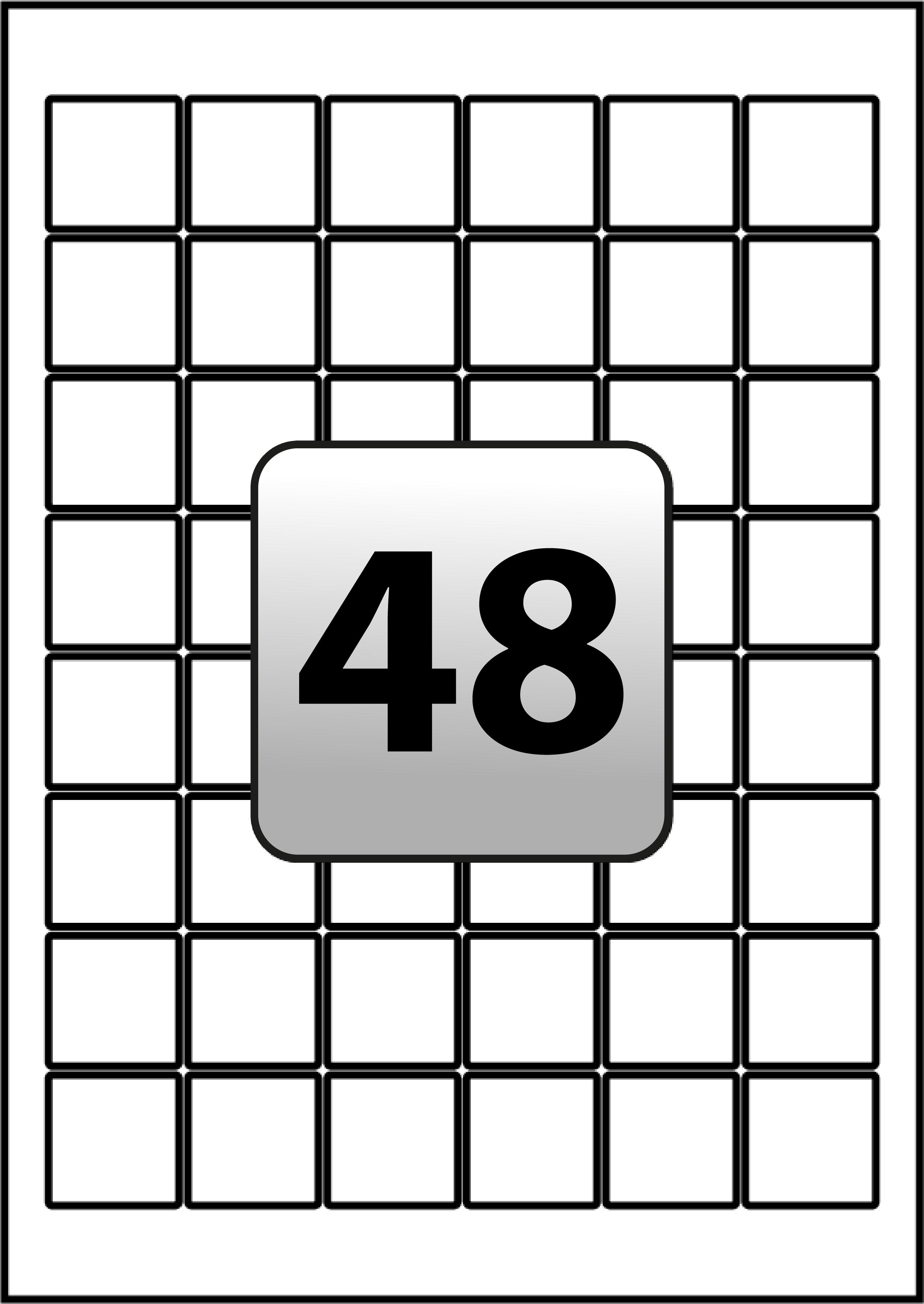 Square Labels Per A Sheet  Mm X  Mm  Flexi Labels In 3 Labels Per Sheet Template