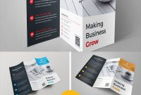 Square Trifold Brochure Template Corporate Identity Template regarding Technical Brochure Template