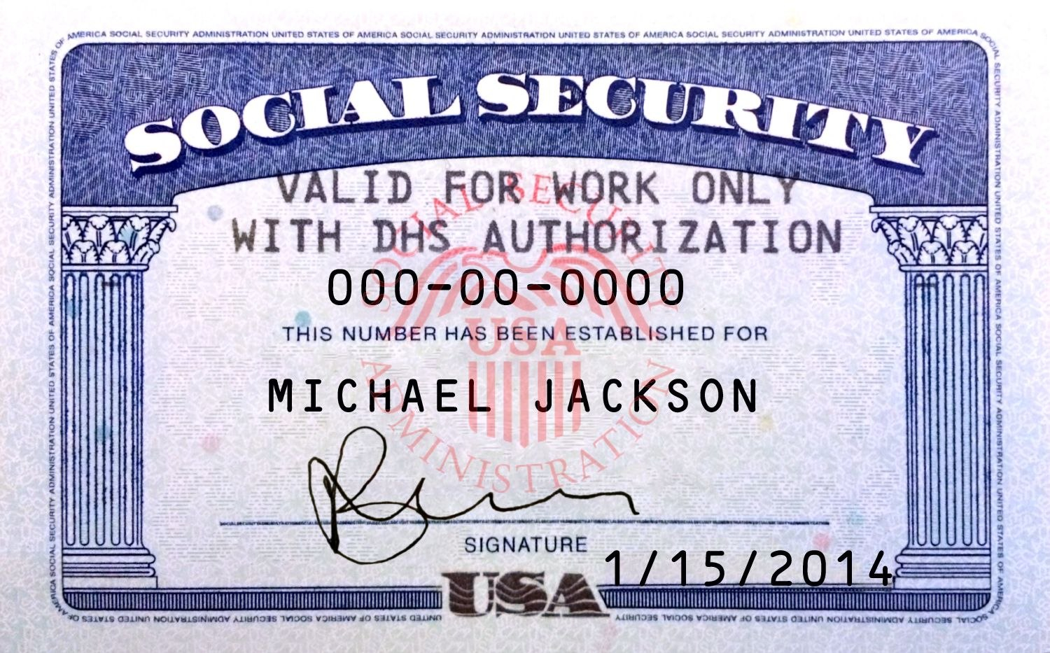 Ssn Card Psd Template  Ids  Psd Templates Certificate Templates In Fake Social Security Card Template Download