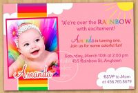 St Birthday Invitation Cards Templates Free  Theveliger in First Birthday Invitation Card Template