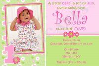 St Birthday Invitations Girl Free Template  Girl St Birthday for First Birthday Invitation Card Template