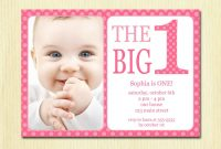 St Birthday Party Invitation Ecards Amazon Email Sample First High intended for First Birthday Invitation Card Template