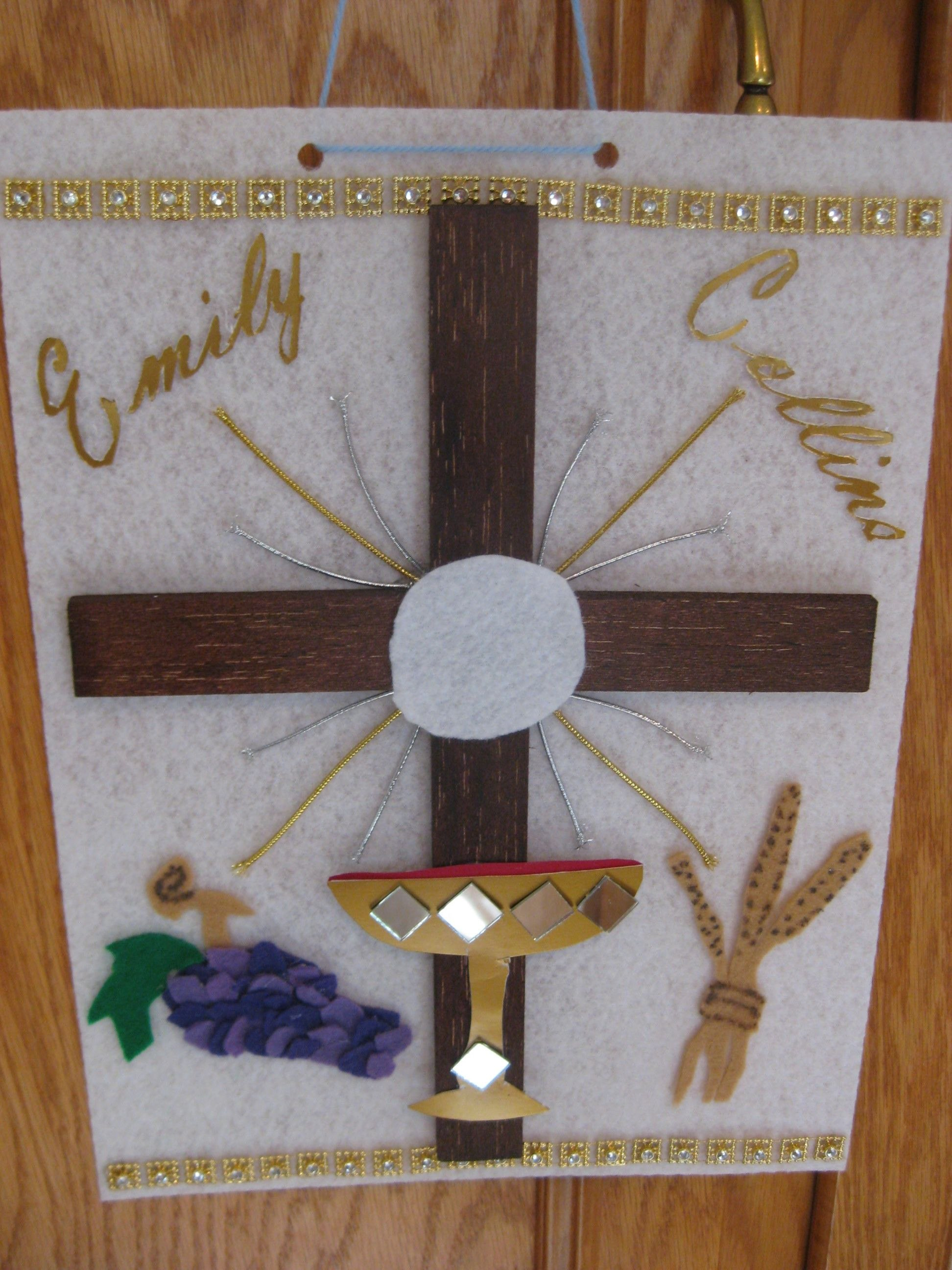St Communion Banner Ideas Fresh First Munion Banner With Felt Shiny With Regard To First Holy Communion Banner Templates