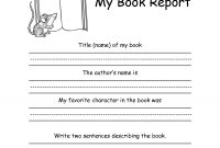 St Or Nd Grade Book Report Formkellysps  Reading  Nd Grade with regard to First Grade Book Report Template