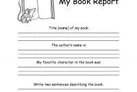 St Or Nd Grade Book Report Formkellysps  Reading  Nd Grade within Book Report Template Grade 1