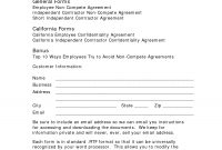 Standard Non Compete Agreement Template  Free Employee Non Pete inside Free Non Compete Agreement Template