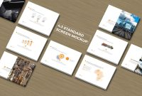 Standard Slide Mockup Template within Powerpoint Presentation Template Size