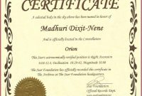 Star Naming Certificate Template in Star Certificate Templates Free