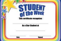 Star Of The Week Certificate Template  Mandegar for Star Of The Week Certificate Template