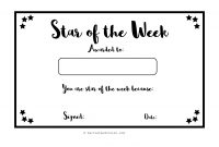 Staroftheweekcelebrationcertificateblankpdf within Star Of The Week Certificate Template