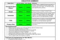 Status Report Examples  Doc Pdf  Examples throughout Executive Summary Project Status Report Template