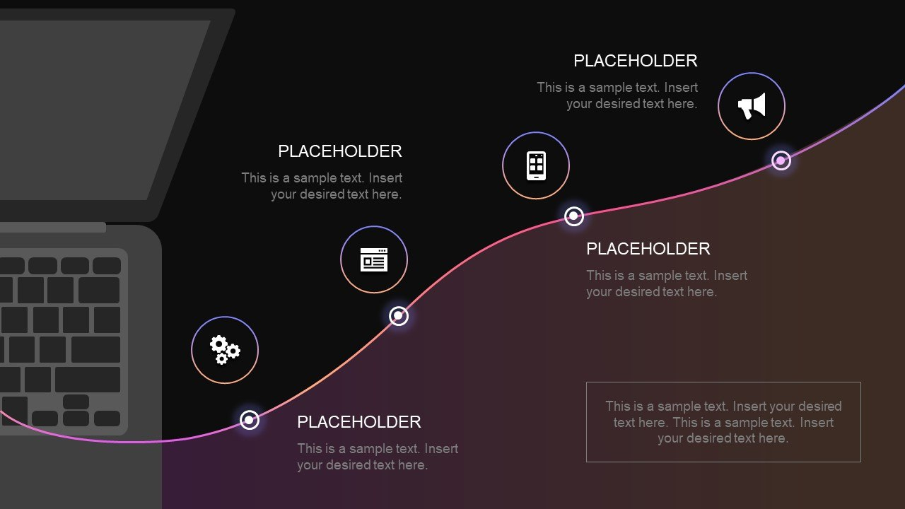 Step Technology Roadmap Powerpoint Template  Slidemodel Pertaining To Powerpoint Templates For Technology Presentations