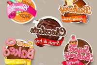 Stock Illustration Food Label Sticker Design Template Bakery with regard to Sweet Labels Template