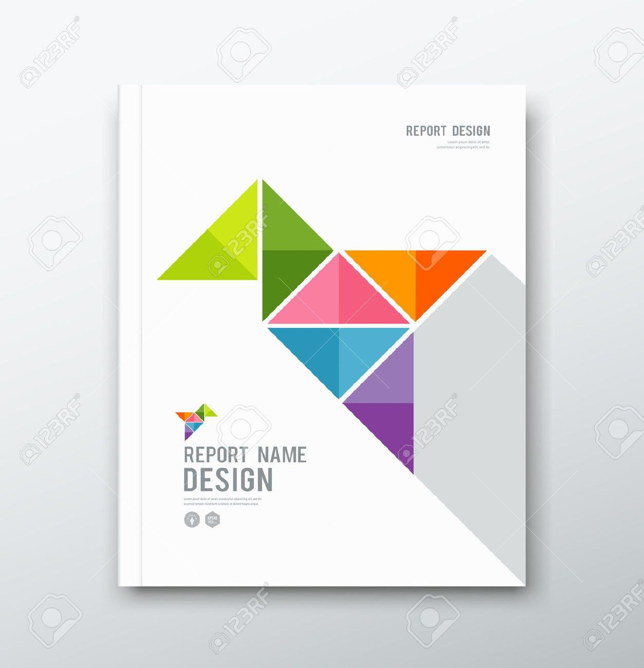 Stock Vector  Graphic Design  Cover Page Template Cover Page For Word Report Cover Page Template