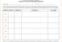 Student Progress Report Template  Bookletemplate intended for Educational Progress Report Template