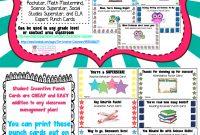 Student Rewards Punch Cards  Back To School Ideas  Resources regarding Reward Punch Card Template