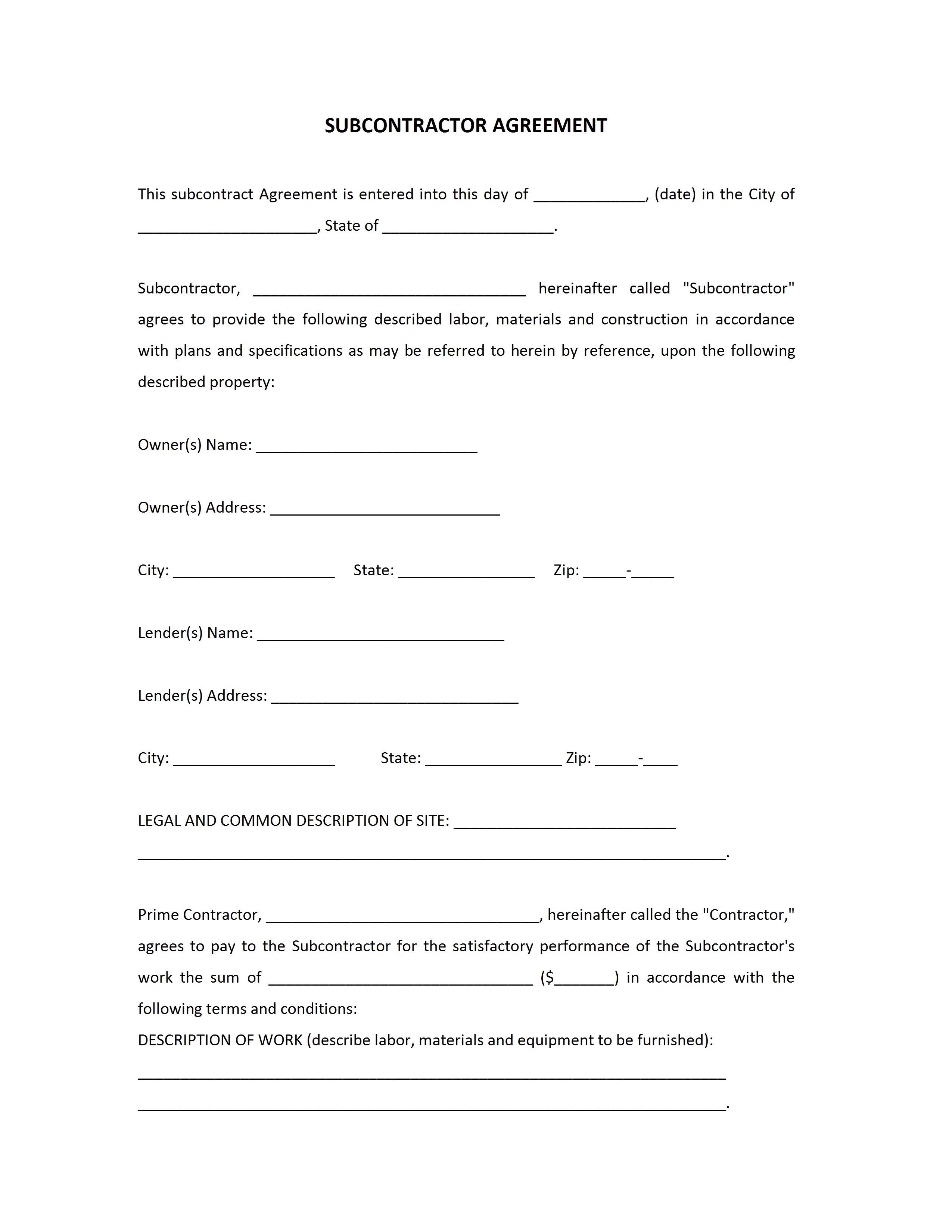 Subcontractor Template Subcontractor Assessment Form Buy Sample Regarding Collateral Warranty Agreement Template