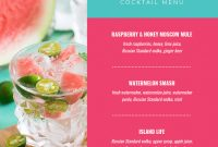 Summer Cocktail Menu Template Template  Venngage in Happy Hour Menu Template