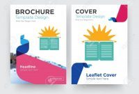 Sunday School Brochure Flyer Design Template With Abstract Photo pertaining to School Brochure Design Templates