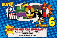 Superhero Birthday Invitations  Template Business with Superhero Birthday Card Template