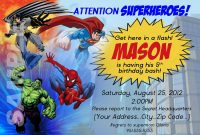 Superhero Invitation Template Free Ideas Birthday Party for Superhero Birthday Card Template