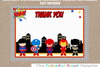 Superhero Invitation Template  Template Business within Superhero Water Bottle Labels Template