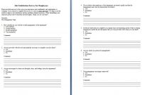 Surveys Template Student Survey Template  Free Word Excel Pdf intended for Employee Satisfaction Survey Template Word