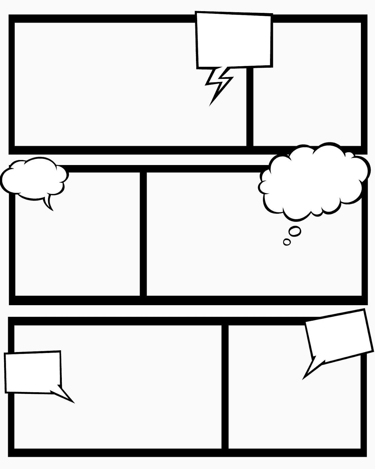 Sweet Hot Mess Free Printable Comic Book Templates  And This Within Printable Blank Comic Strip Template For Kids