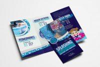 Swimming Centre Trifold Brochure Template In Psd Ai  Vector inside Tri Fold School Brochure Template