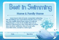 Swimming Certificate Template  Sansurabionetassociats pertaining to Swimming Certificate Templates Free