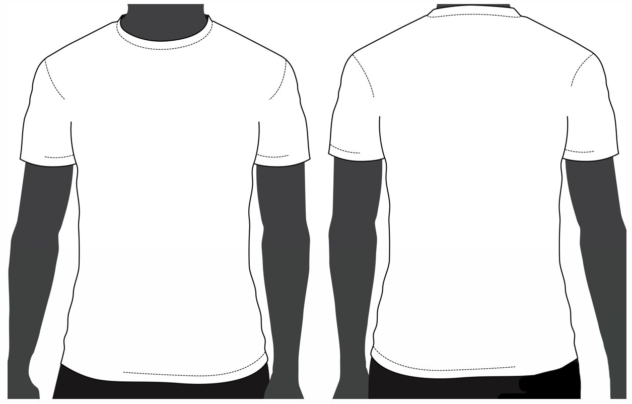 T Shirt Template Printable Clipart  Free Download Best T Shirt Pertaining To Printable Blank Tshirt Template