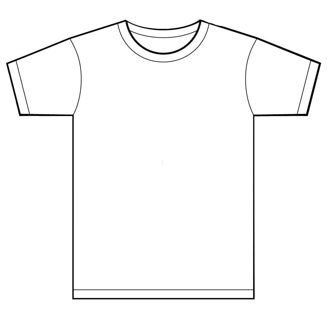 T Shirt Template Printable  Makingtheweb In Printable Blank Tshirt Template