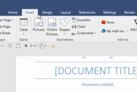 Table Of Contents In Word within Microsoft Word Table Of Contents Template