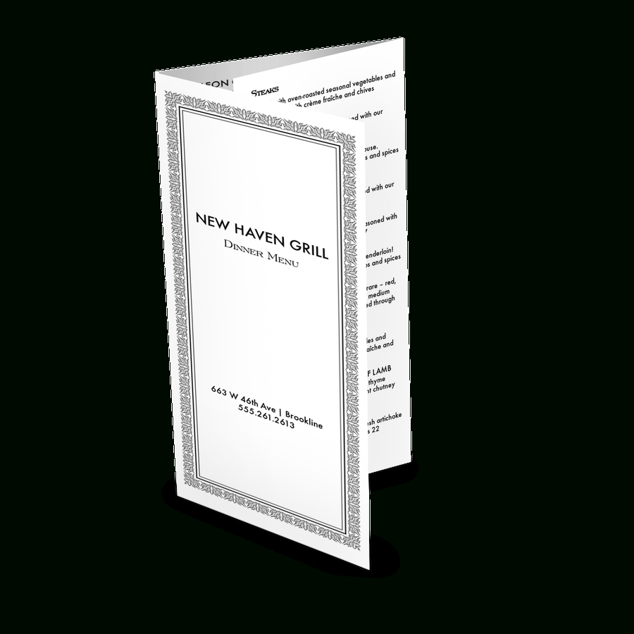 Takeout Menu Templates With Designer Flair  Musthavemenus Within Take Out Menu Template