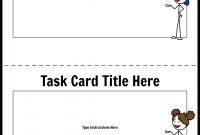 Task Card Template  Storyboardworksheettemplates in Task Card Template