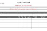 Task Status Report Format Samples  Word Document regarding Word Document Report Templates