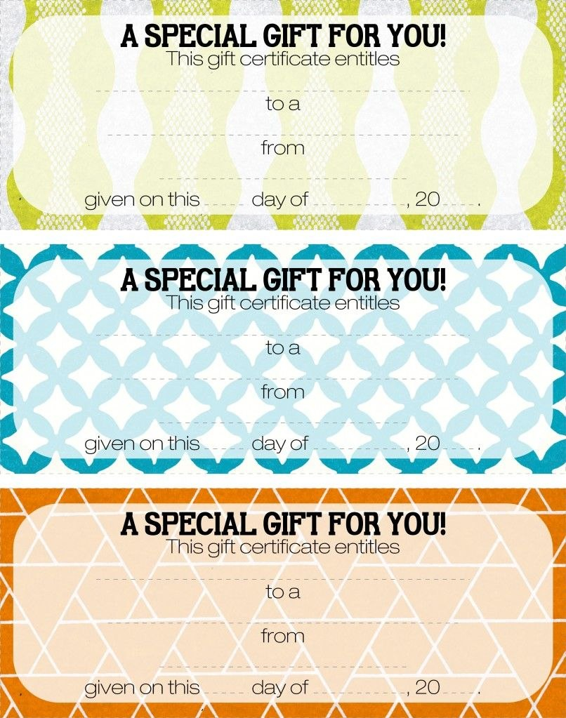 Teacher Appreciation  Tip  Give A Gift Certificate  Gift Ideas For Homemade Gift Certificate Template