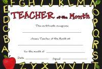 Teacher Of The Month in Teacher Of The Month Certificate Template