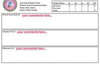 Teachers  Teacher Resources within Student Grade Report Template