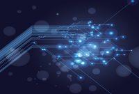 Technology Design Powerpoint Templates  Black Blue Technologies regarding High Tech Powerpoint Template